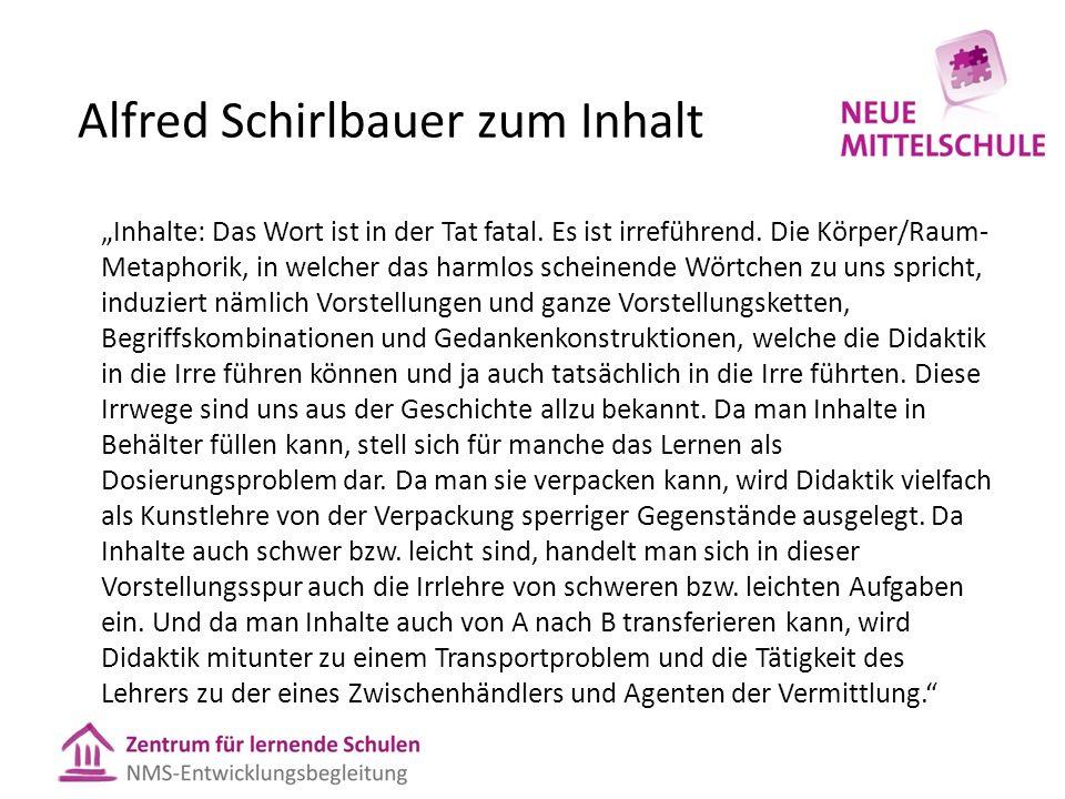 """Alfred Schirlbauer zum Inhalt """"Inhalte: Das Wort ist in der Tat fatal. Es ist irreführend. Die Körper/Raum- Metaphorik, in welcher das harmlos scheine"""