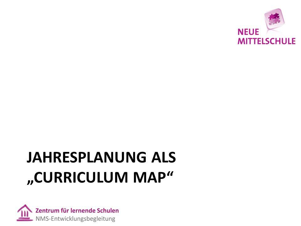 "JAHRESPLANUNG ALS ""CURRICULUM MAP"""