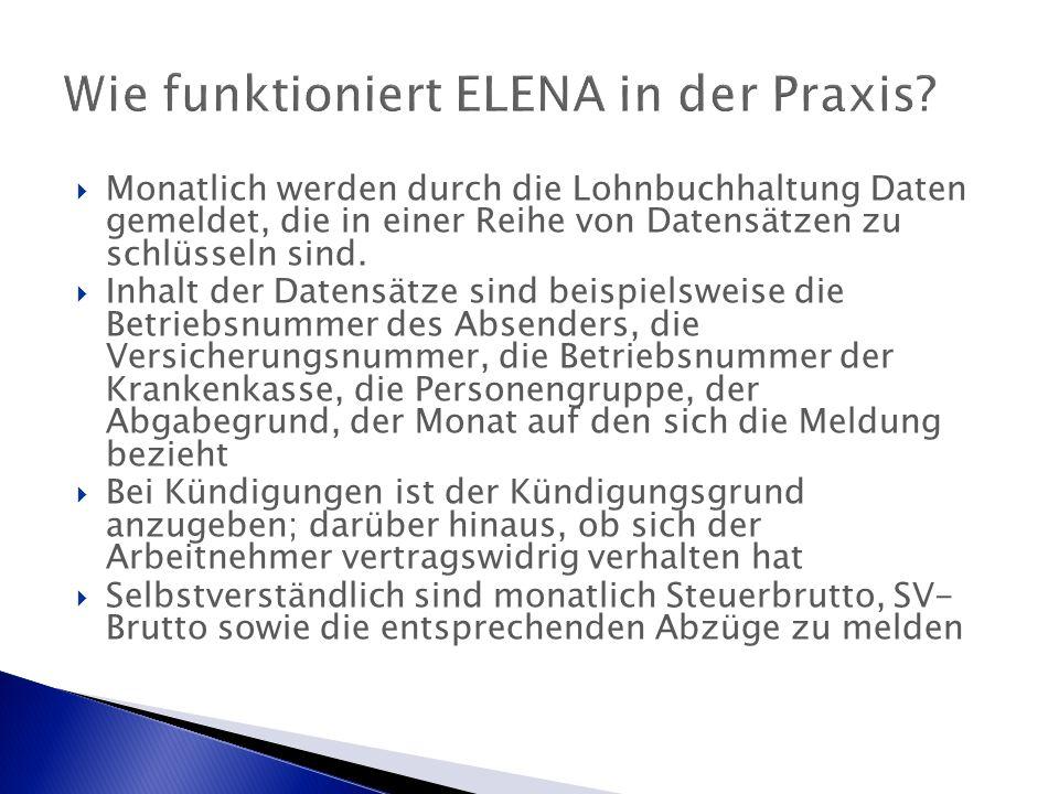 Wie funktioniert ELENA in der Praxis.