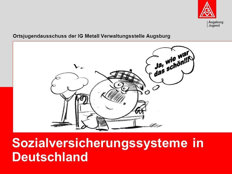 Augsburg Jugend Sozialversicherungssysteme in Deutschland Ortsjugendausschuss der IG Metall Verwaltungsstelle Augsburg
