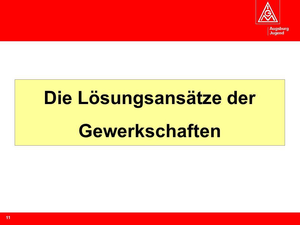Augsburg Jugend 11 Die Lösungsansätze der Gewerkschaften
