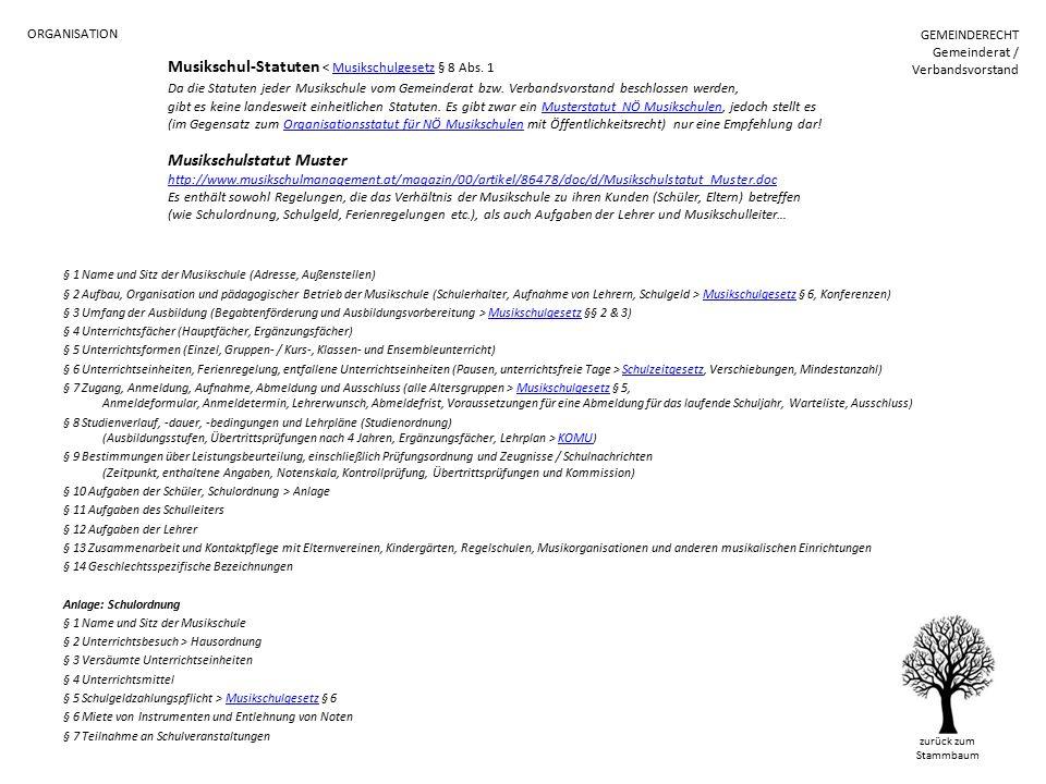 Musikschul-Statuten < Musikschulgesetz § 8 Abs.