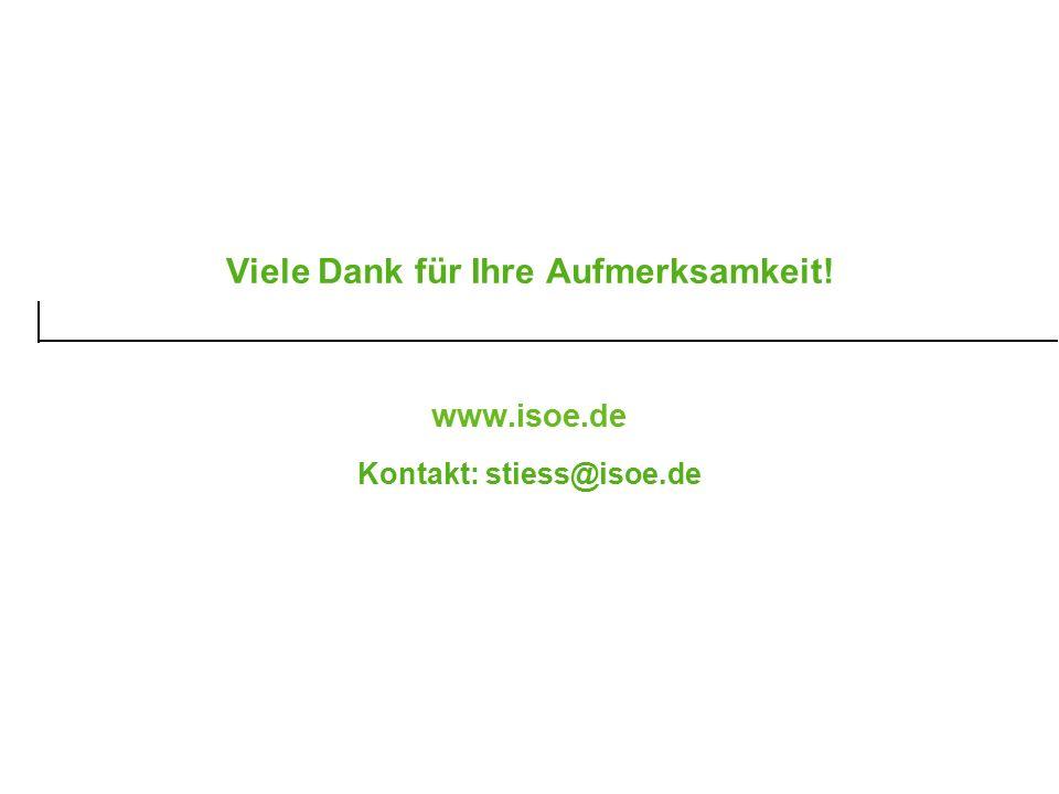 Viele Dank für Ihre Aufmerksamkeit! www.isoe.de Kontakt: stiess@isoe.de
