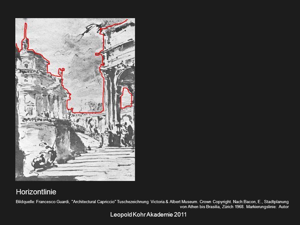 Leopold Kohr Akademie 2011 Horizontlinie Bildquelle: Francesco Guardi, Architectural Capriccio Tuschezeichnung Victoria & Albert Museum.