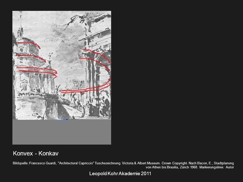 Leopold Kohr Akademie 2011 Konvex - Konkav Bildquelle: Francesco Guardi, Architectural Capriccio Tuschezeichnung Victoria & Albert Museum.