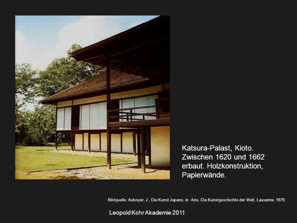 Leopold Kohr Akademie 2011 Katsura-Palast, Kioto. Zwischen 1620 und 1662 erbaut.