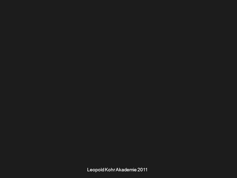 Leopold Kohr Akademie 2011