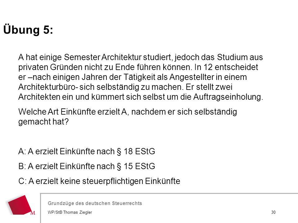 Hier wird der Titel der Präsentation wiederholt (Ansicht >Folienmaster) Grundzüge des deutschen Steuerrechts A hat einige Semester Architektur studier