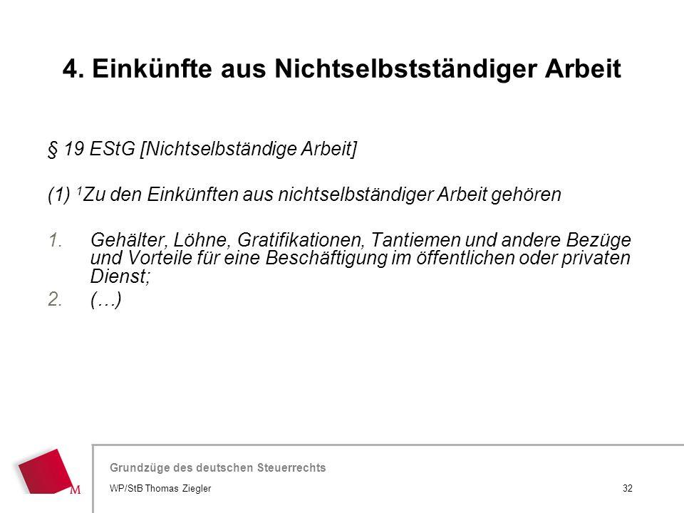 Hier wird der Titel der Präsentation wiederholt (Ansicht >Folienmaster) Grundzüge des deutschen Steuerrechts § 19 EStG [Nichtselbständige Arbeit] (1)