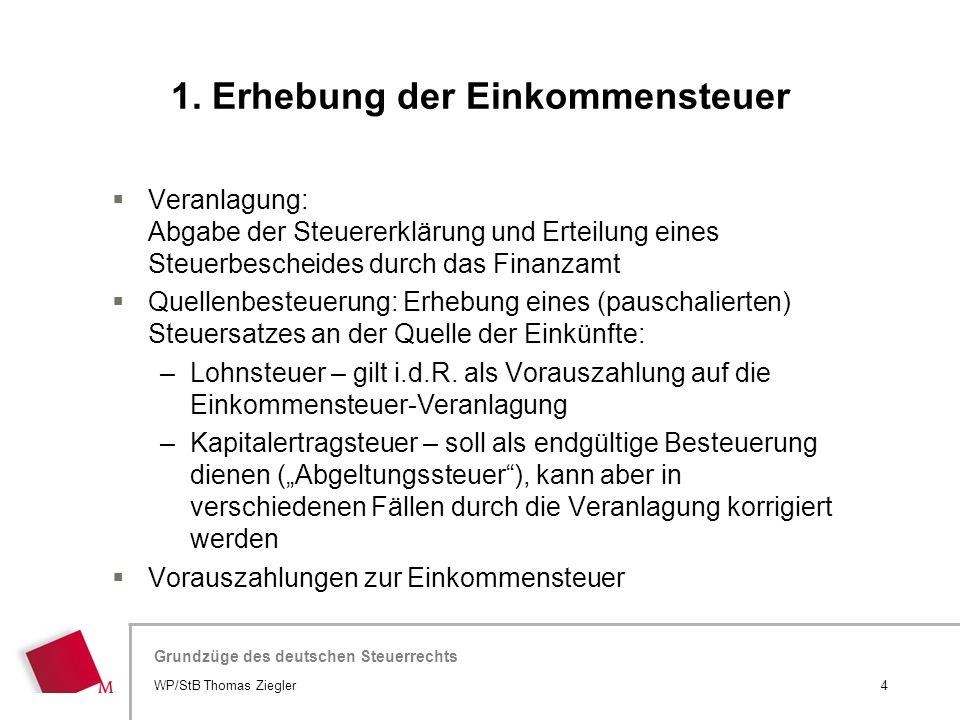 Hier wird der Titel der Präsentation wiederholt (Ansicht >Folienmaster) Grundzüge des deutschen Steuerrechts  Veranlagung: Abgabe der Steuererklärung