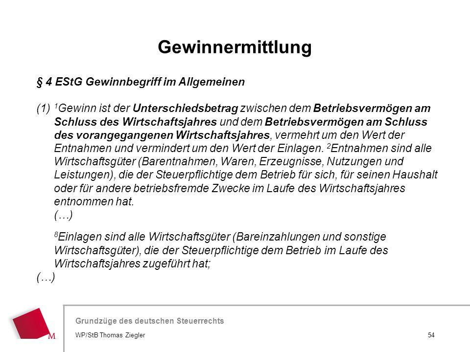Hier wird der Titel der Präsentation wiederholt (Ansicht >Folienmaster) Grundzüge des deutschen Steuerrechts § 4 EStG Gewinnbegriff im Allgemeinen (1)