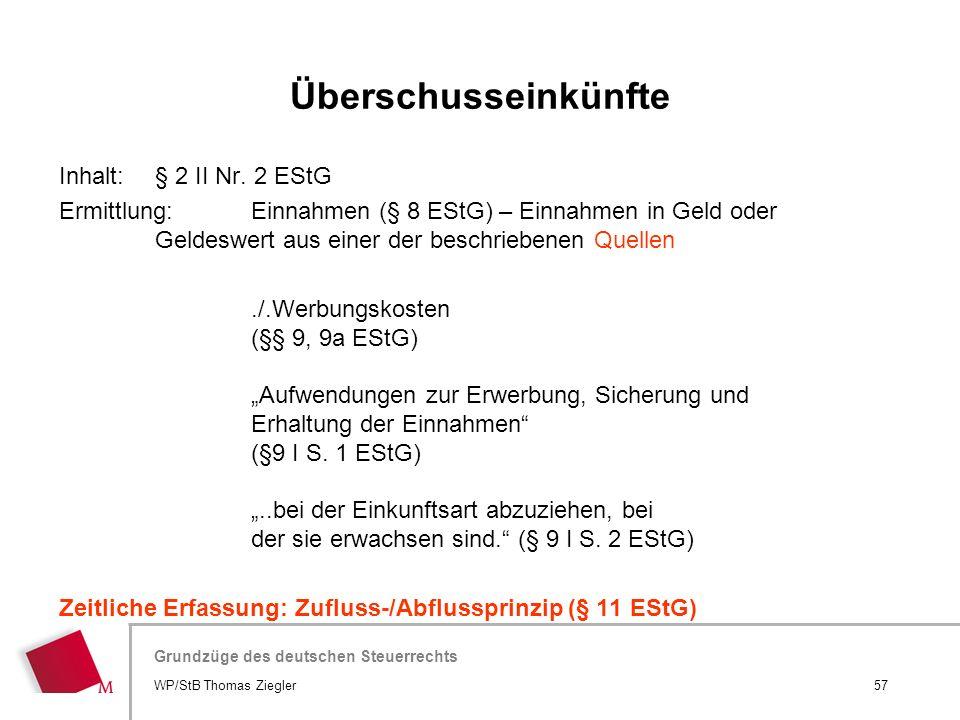 Hier wird der Titel der Präsentation wiederholt (Ansicht >Folienmaster) Grundzüge des deutschen Steuerrechts Inhalt: § 2 II Nr. 2 EStG Ermittlung:Einn