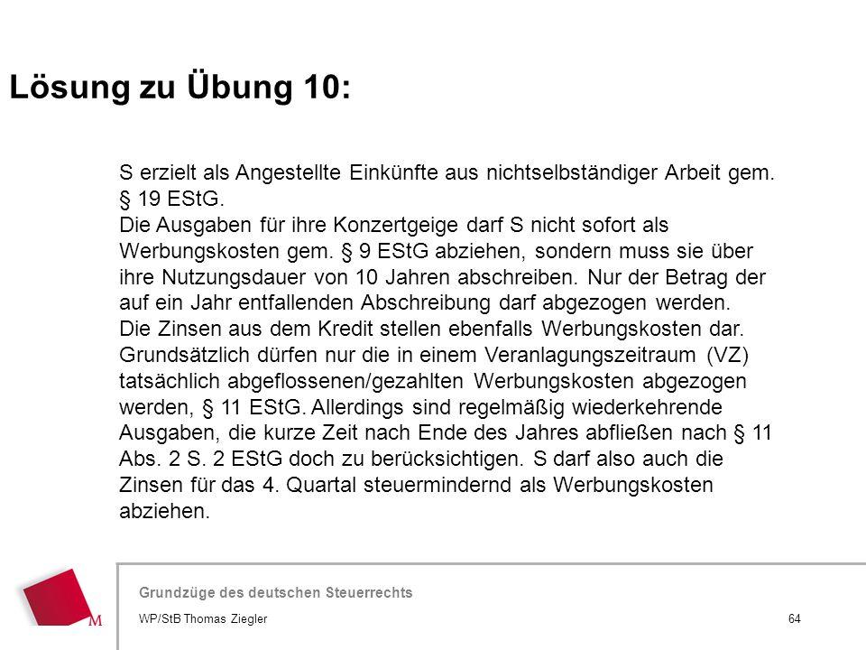Hier wird der Titel der Präsentation wiederholt (Ansicht >Folienmaster) Grundzüge des deutschen Steuerrechts S erzielt als Angestellte Einkünfte aus n