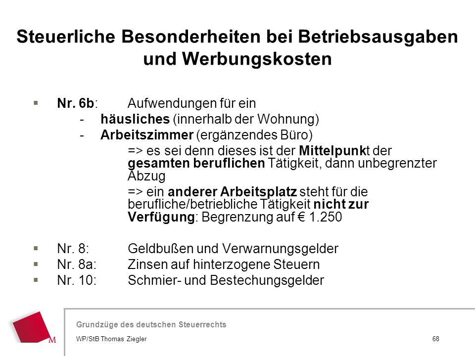 Hier wird der Titel der Präsentation wiederholt (Ansicht >Folienmaster) Grundzüge des deutschen Steuerrechts  Nr. 6b: Aufwendungen für ein -häusliche