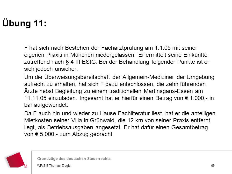 Hier wird der Titel der Präsentation wiederholt (Ansicht >Folienmaster) Grundzüge des deutschen Steuerrechts F hat sich nach Bestehen der Facharztprüf