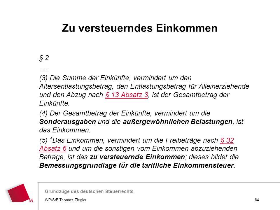 Hier wird der Titel der Präsentation wiederholt (Ansicht >Folienmaster) Grundzüge des deutschen Steuerrechts § 2 …. (3) Die Summe der Einkünfte, vermi