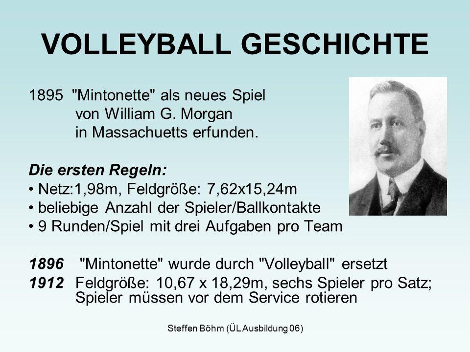 Steffen Böhm (ÜL Ausbildung 06) 1895 Mintonette als neues Spiel von William G.