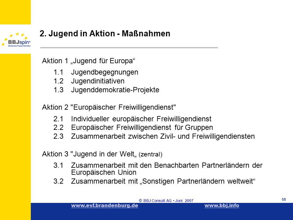 www.esf.brandenburg.dewww.esf.brandenburg.de www.bbj.infowww.bbj.info © BBJ Consult AG Juni 2007 58 2.