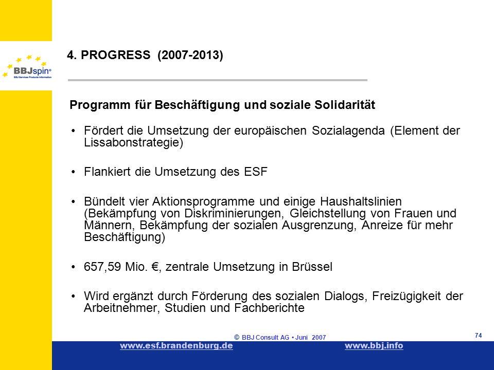 www.esf.brandenburg.dewww.esf.brandenburg.de www.bbj.infowww.bbj.info © BBJ Consult AG Juni 2007 74 4.