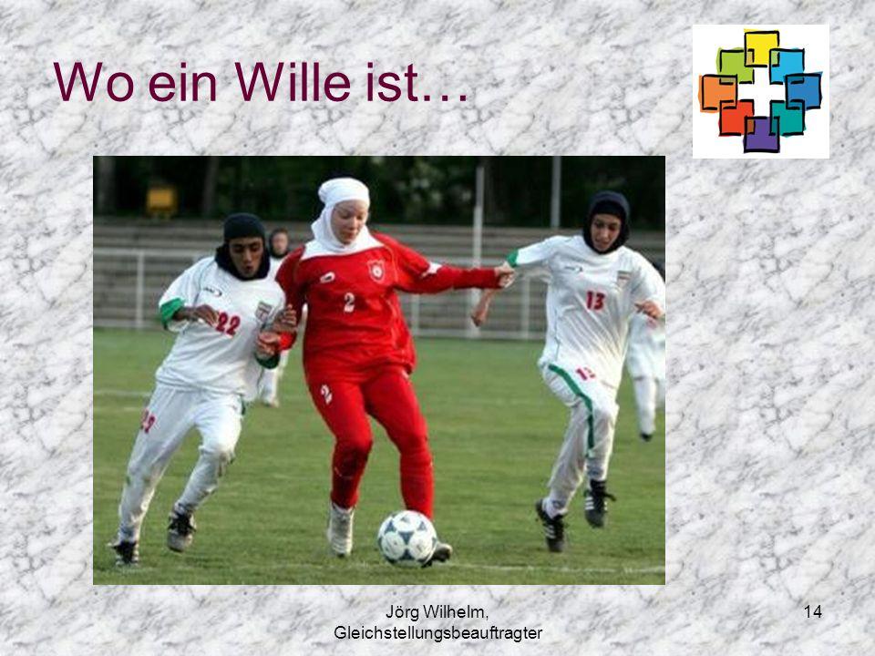 Jörg Wilhelm, Gleichstellungsbeauftragter 14 Wo ein Wille ist…