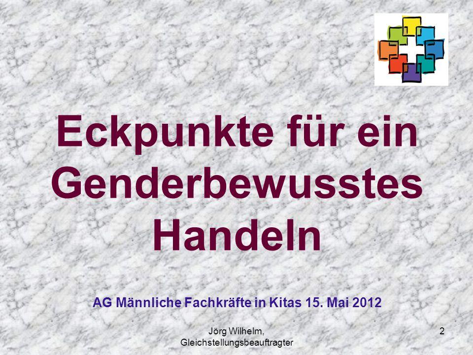 2 Eckpunkte für ein Genderbewusstes Handeln AG Männliche Fachkräfte in Kitas 15. Mai 2012