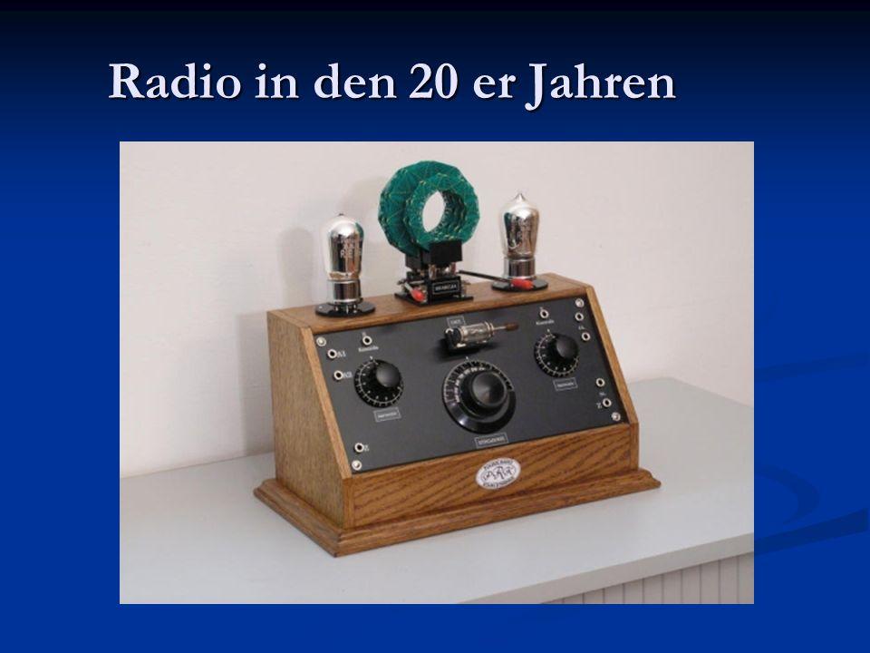 Radio in den 20 er Jahren