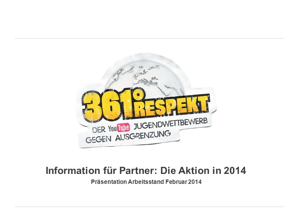 Information für Partner: Die Aktion in 2014 Präsentation Arbeitsstand Februar 2014
