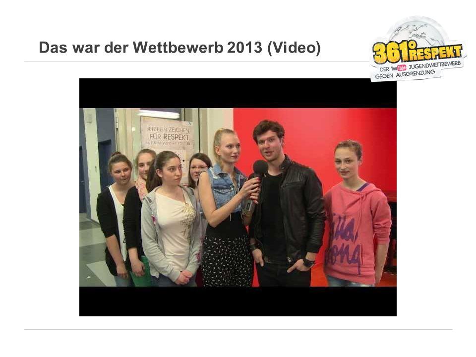 Das war der Wettbewerb 2013 (Video)