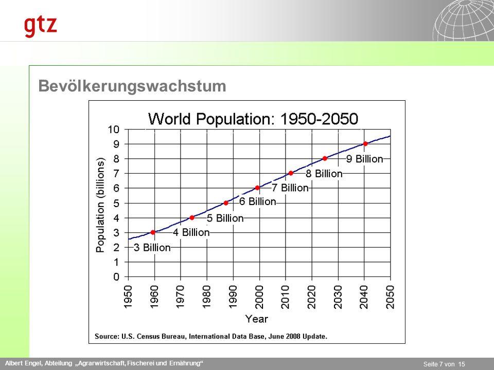 """Albert Engel, Abteilung """"Agrarwirtschaft, Fischerei und Ernährung"""" Seite 7 von 15 Bevölkerungswachstum"""