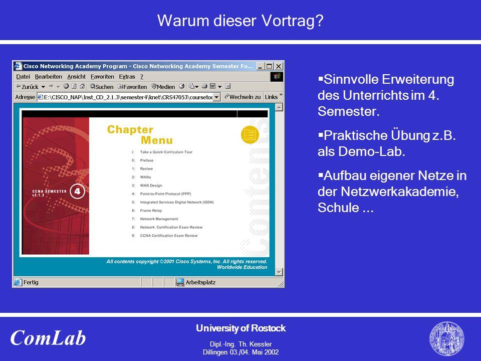 University of Rostock Dipl.-Ing.Th. Kessler Dillingen 03./04.