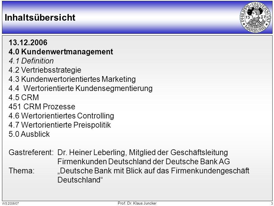 WS 2006/07 Prof.Dr. Klaus Juncker 54 Quelle: EU-Kommission, Bach Datenbank 1999 < 7 Mio.