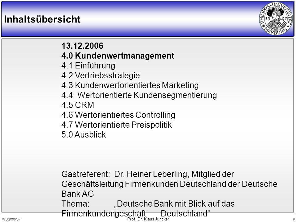 WS 2006/07 Prof. Dr. Klaus Juncker 59