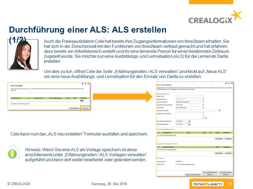 """Cele kann nun das """"ALS neu erstellen Formular ausfüllen und speichern."""