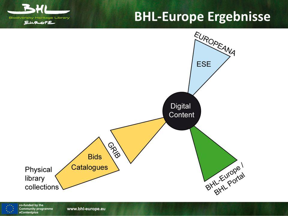 BHL-Europe Ergebnisse
