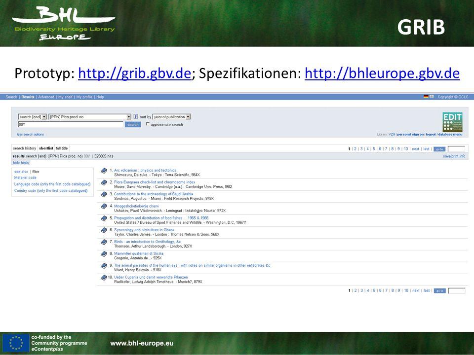 GRIB Datensatz: 325.805 Titel & Artikel (21. September 2010)