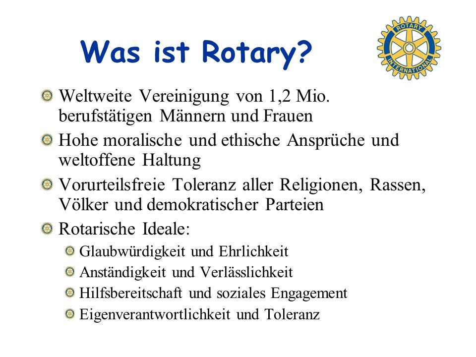 Was ist Rotary.Weltweite Vereinigung von 1,2 Mio.