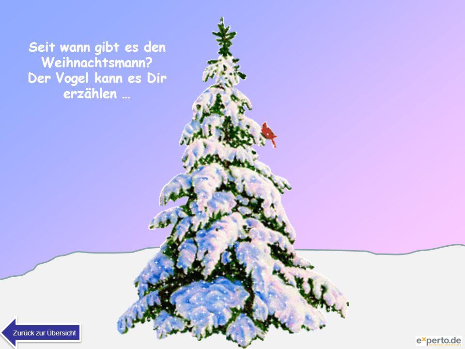 Seit wann gibt es den Weihnachtsmann? Der Vogel kann es Dir erzählen … Zurück zur Übersicht