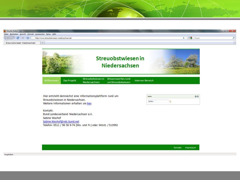 ImpressumKontakt Streuobstwiesen Niedersachsen