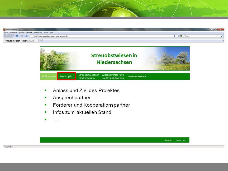 ImpressumKontakt Streuobstwiesen Niedersachsen  Bedeutung und Gefährdung  Informationen zu Obstsorten  Fotos  Literatur  Weitere Projekte  …