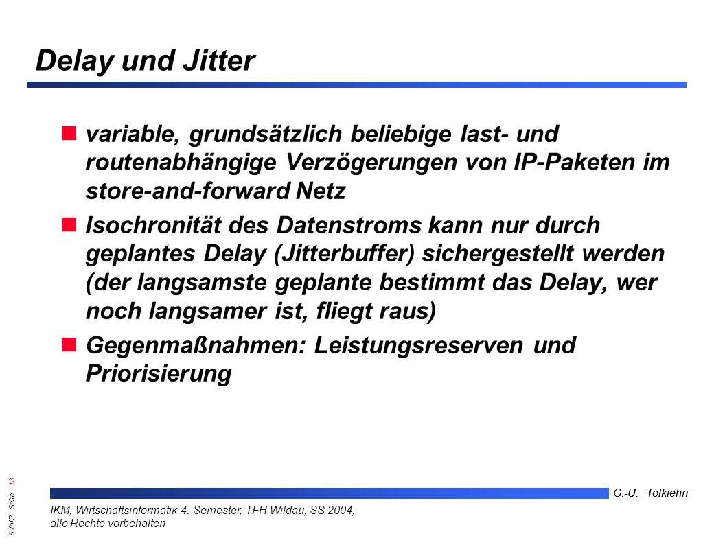 6VoIP Seite 12 G.-U. Tolkiehn IKM, Wirtschaftsinformatik 4.
