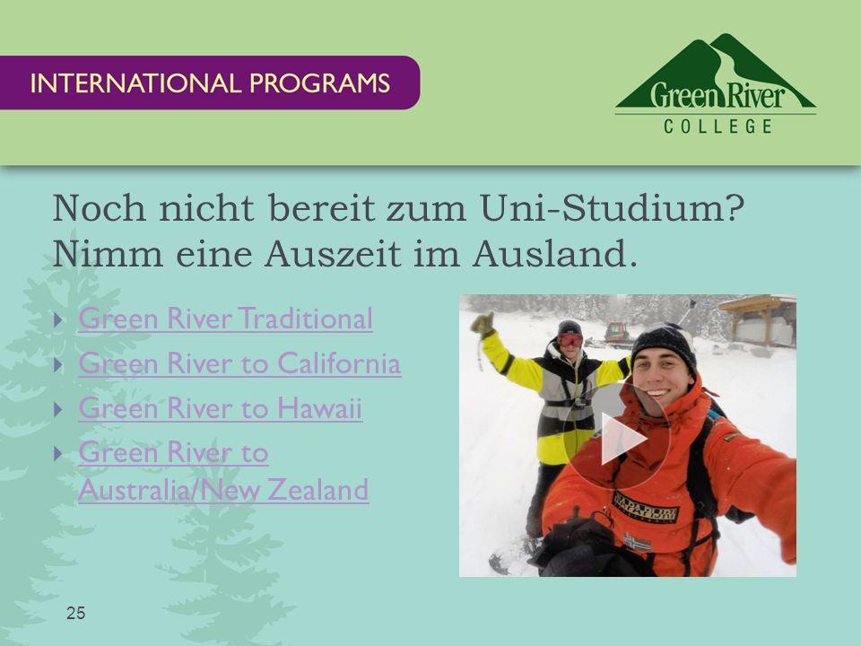 Noch nicht bereit zum Uni-Studium. Nimm eine Auszeit im Ausland.