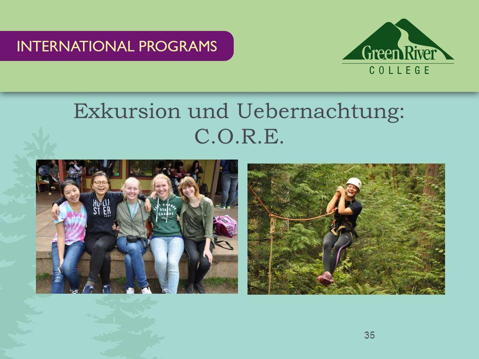 Exkursion und Uebernachtung: C.O.R.E. 35