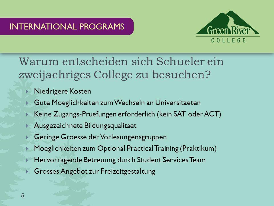 Warum entscheiden sich Schueler ein zweijaehriges College zu besuchen.