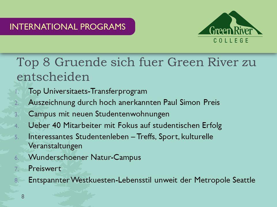 Green River Studenten wechseln u.a.