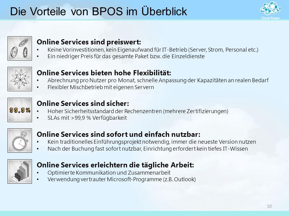 Online Services sind preiswert: Keine Vorinvestitionen, kein Eigenaufwand für IT-Betrieb (Server, Strom, Personal etc.) Ein niedriger Preis für das ge