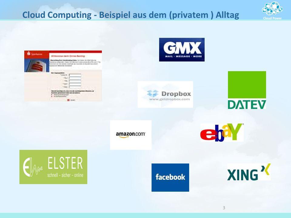 3 Cloud Computing - Beispiel aus dem (privatem ) Alltag