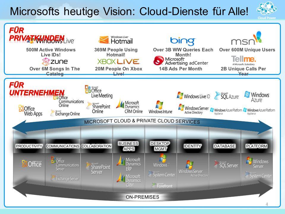 Microsofts heutige Vision: Cloud-Dienste für Alle! 4