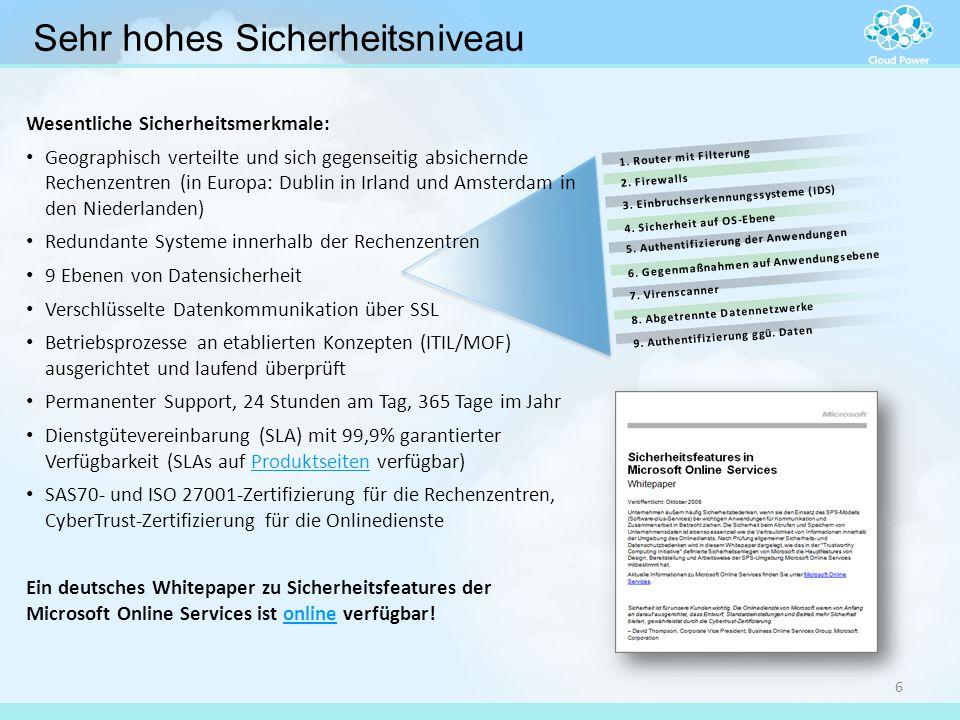 9. Authentifizierung ggü. Daten 8. Abgetrennte Datennetzwerke 7. Virenscanner 6. Gegenmaßnahmen auf Anwendungsebene 5. Authentifizierung der Anwendung