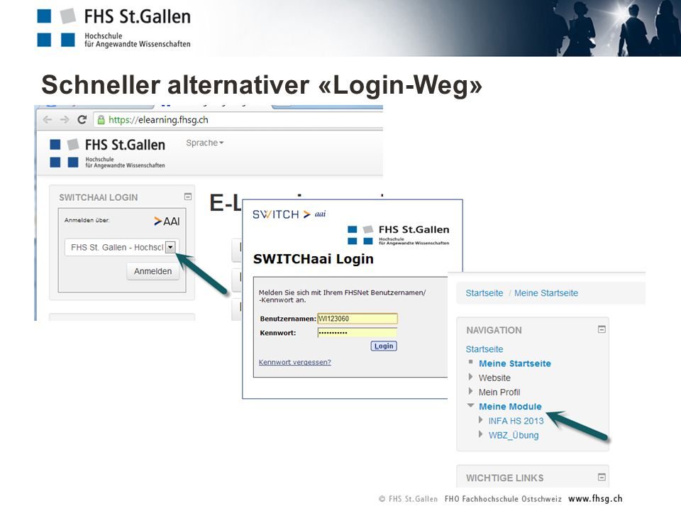 Schneller alternativer «Login-Weg»