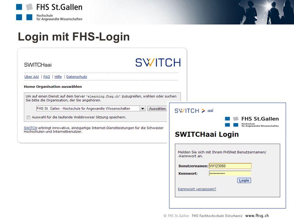 Login mit FHS-Login